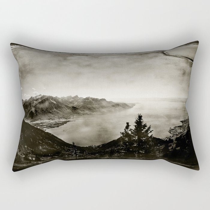 Vintage Switzerland Rectangular Pillow