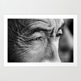 Tibetan eyes Art Print