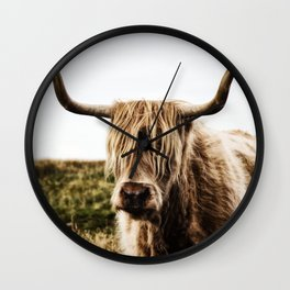 Highland Cow - color Wall Clock