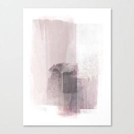 Blush Pink Minimalist Abstract Painting Canvas Print