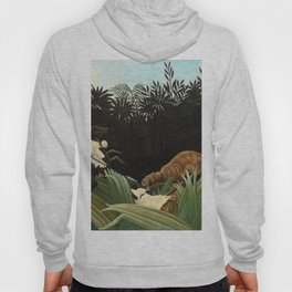 Henri Rousseau - Scouts Attacked by a Tiger Hoody