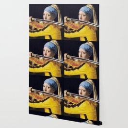 "Vermeer's ""Girl with a Pearl Earring"" & Kill Bill Wallpaper"