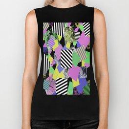 Crazy Squares - Abstract, Geometric Pop Art Biker Tank
