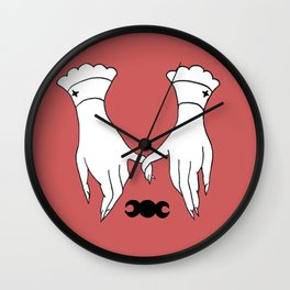 Witchy Hands Pinky Promise Design Wall Clock