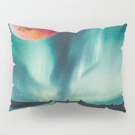 Blood Moon Over Iceland Pillow Sham