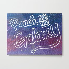 Chasing the twilight - Reach for the Galaxy Metal Print