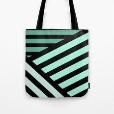 STRIPED {MINT} Tote Bag