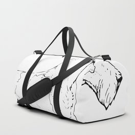 Wire Haired Fox Terrier Ink Drawing Duffle Bag