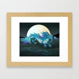 sea water chinese dragon Framed Art Print