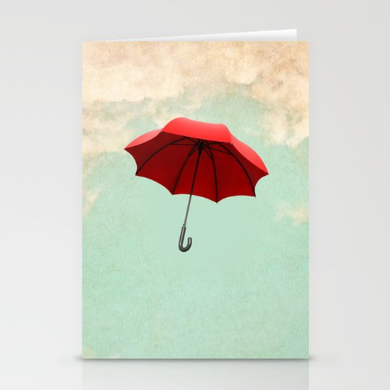 Red Umbrella Stationery Cards