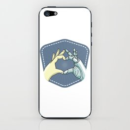 hand_heart protese iPhone Skin