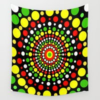 rasta Wall Tapestries featuring Rasta by Liqrush