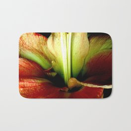 Red Green Yellow Blossom with Calyx Bath Mat