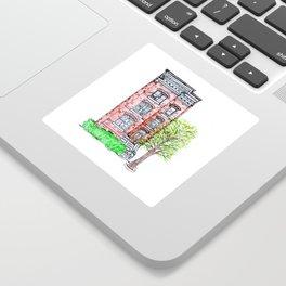 DC Row House No. 3 II Capitol Hill Sticker