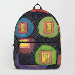 Lighted Windows in the Dark Backpack