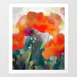 Poppies  2017 Art Print