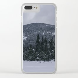 Winter at Lonesome Lake in the White Mountains Clear iPhone Case