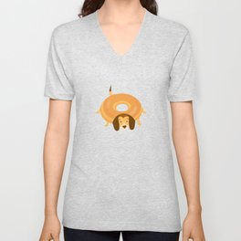Donut Dog Unisex V-Neck
