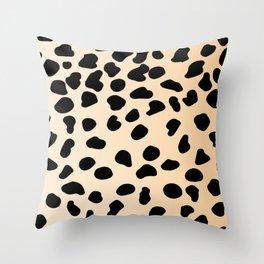Leopard animal print Throw Pillow