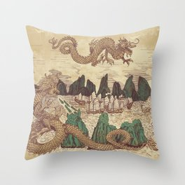 The Halong Bay Creation Myth Throw Pillow
