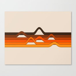 Golden Wavelength Canvas Print