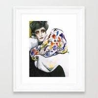 kandinsky Framed Art Prints featuring Dressed in Kandinsky by Bruna Babic