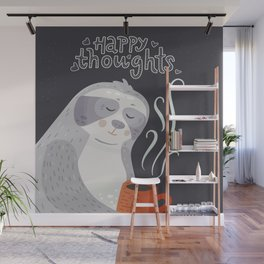 Happy Thoughts – Sloth Wall Mural