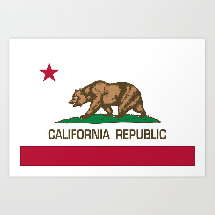 California Republic Flag - Bear Flag Kunstdrucke