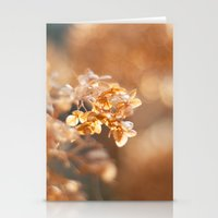 gold glitter Stationery Cards featuring Gold Glitter by Katie Kirkland