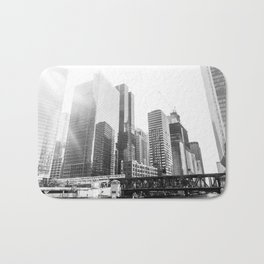 Chitown Black and White Bath Mat
