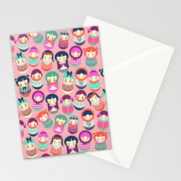Babushka Russian doll pattern Stationery Cards