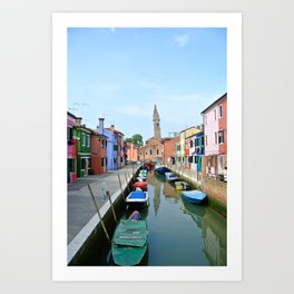 Leaning Tower in Burano Art Print