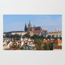 Old town and Prague castle Rug
