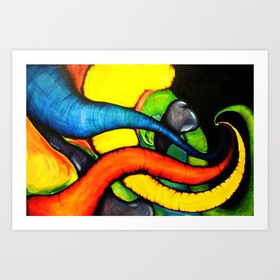 Trunks Art Print