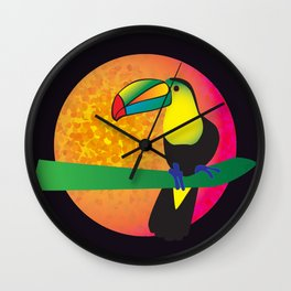 Toucan - Black Wall Clock