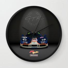 1995 McLaren F1 GTR Le Mans - Gulf Livery Wall Clock