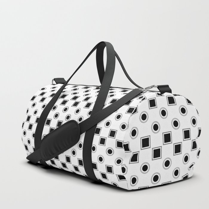 Circles And Squares Target White Duffle Bag