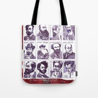 degas Tote Bags featuring Portraits of artists by Alessandro Andreuccetti