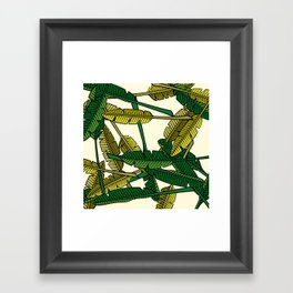 Botany: Banana Leaves Framed Art Print
