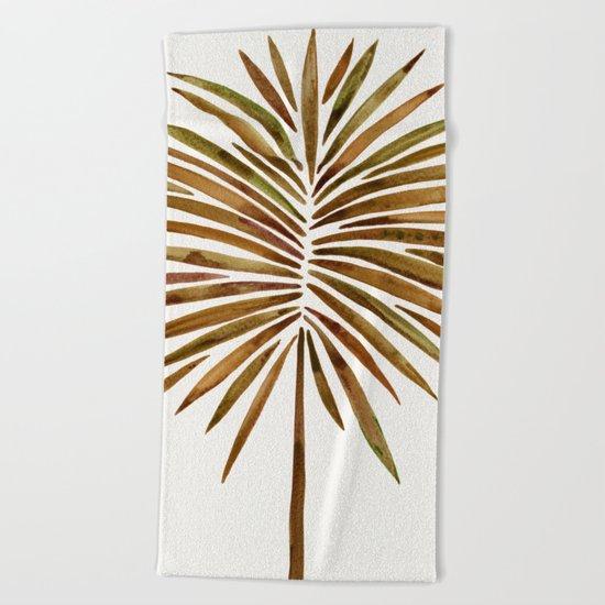 Tropical Fan Palm – Sepia Beach Towel