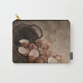 Basket with egg shells and roses Carry-All Pouch