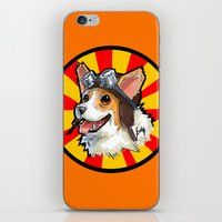 corgi iPhone & iPod Skins featuring corgi  by sebastian aburto
