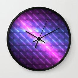 Electric Tiles of Celestial Rains Wall Clock
