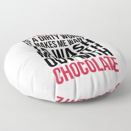 Exercise & Chocolate Funny Quote Floor Pillow