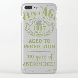 Green-Vintage-Limited-1917-Edition---100th-Birthday-Gift---Sao-chép Clear iPhone Case