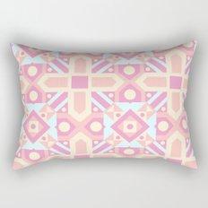 Pink teal yellow ethnic moroccan motif pattern Rectangular Pillow