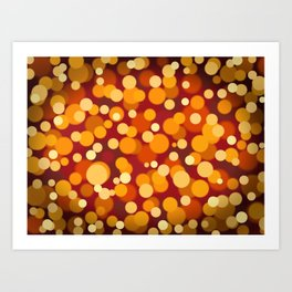 Warm Orange and Red Party Lights Art Print