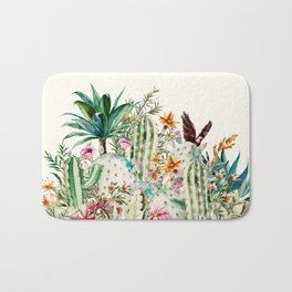 Blooming in the cactus Bath Mat