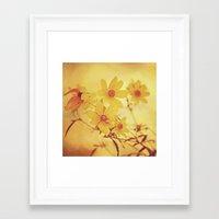 vintage floral Framed Art Prints featuring Vintage Floral by Joel Olives