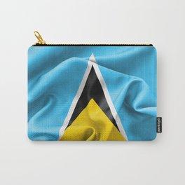 Saint Lucia Flag Carry-All Pouch